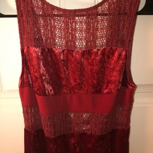 Free people velour and lace dress
